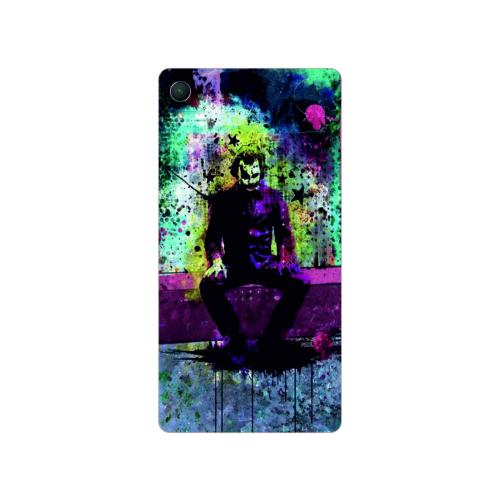 Bordo Sony Xperia M4 Aqua Kapak Kılıf Renkli Joker Baskılı Silikon
