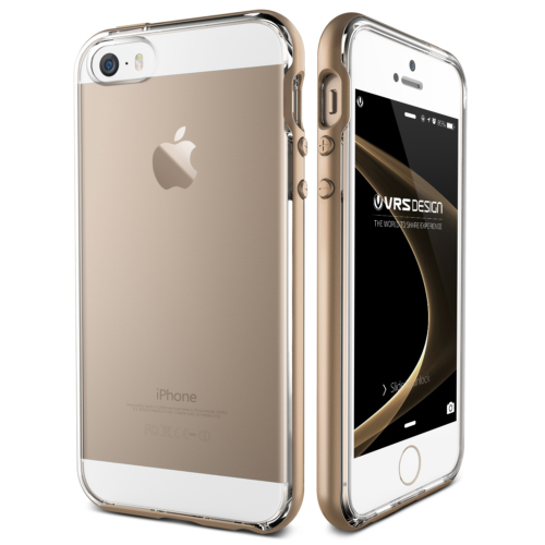 Verus iPhone SE Crystal Bumper Series Kılıf Shine Gold