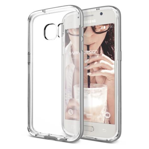 Verus Samsung Galaxy S7 Edge Crystal Bumper Kılıf Light Silver