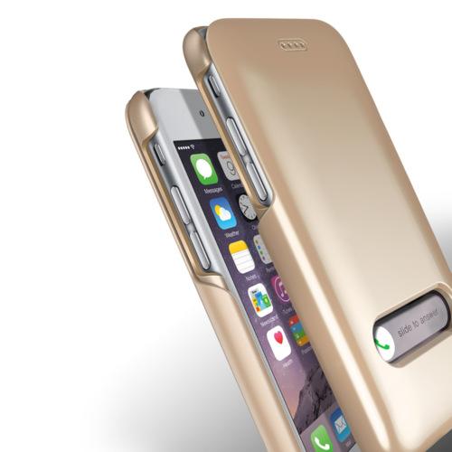 Verus iPhone 6/6S 4.7 Slim Hard Slide Kılıf Shine Gold