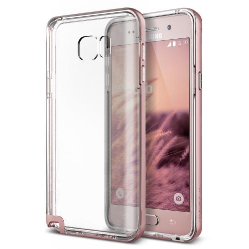 Verus Galaxy Note 5 Crystal Bumper Kılıf Rose Gold