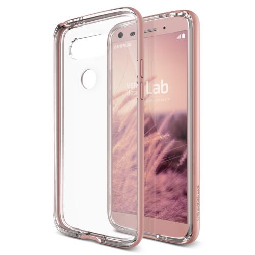 Verus LG G5 Crystal Bumper Kılıf Rose Gold
