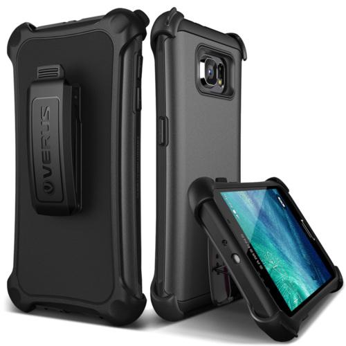 Verus Galaxy S6 Case Hard Drop Active Kılıf Steel Silver