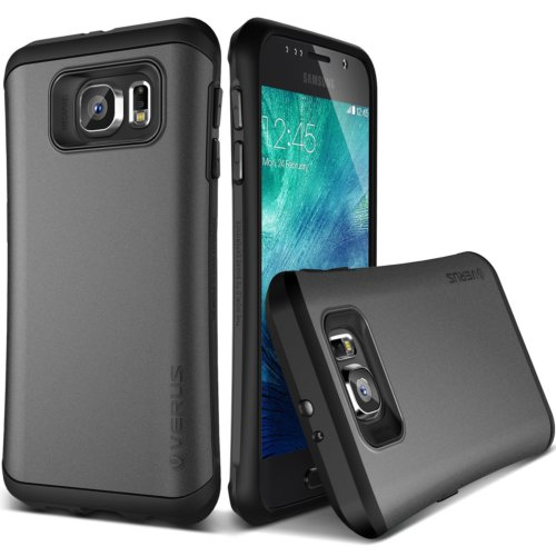 Verus Galaxy S6 Case Thor Kılıf HARD DROP Steel Silver