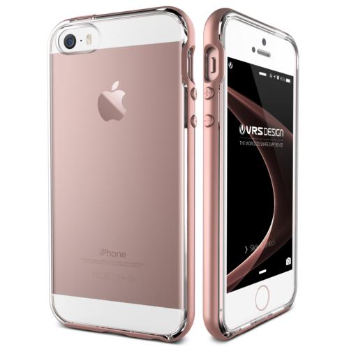 Verus iPhone SE Crystal Bumper Series Kılıf Rose Gold