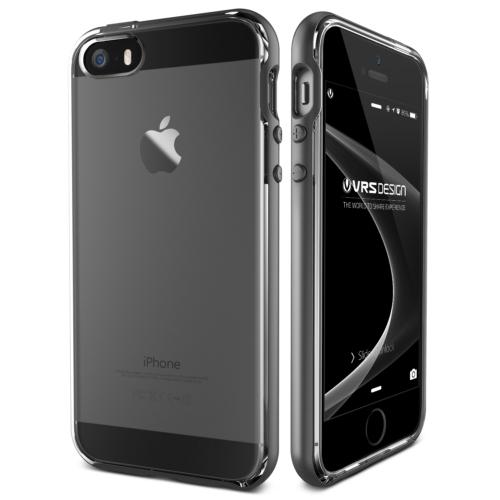 Verus iPhone SE Crystal Bumper Series Kılıf Steel Silver