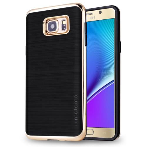 Motomo Samsung Galaxy Note 4 Gold Lüks Silikon Kılıf