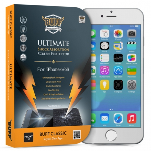 Buff Apple iPhone 6 Darbe Emici Ekran Koruyucu Film