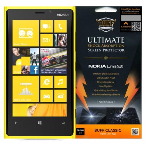 Buff Nokia Lumia 920 Darbe Emici Ekran Koruyucu Film