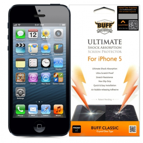 Buff Apple iPhone 5 Darbe Emici Ekran Koruyucu Film