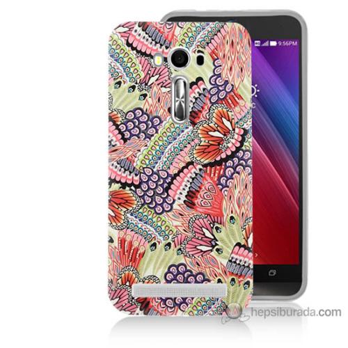 Bordo Asus Zenfone 2 Laser 5.5 Kapak Kılıf Renkli Desenler Baskılı Silikon