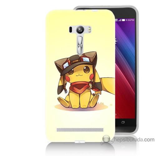 Bordo Asus Zenfone Selfie Kapak Kılıf Pokemon Baskılı Silikon