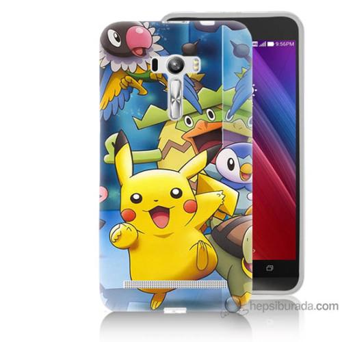 Bordo Asus Zenfone Selfie Kapak Kılıf Pikachu Ve Arkadaşları Baskılı Silikon