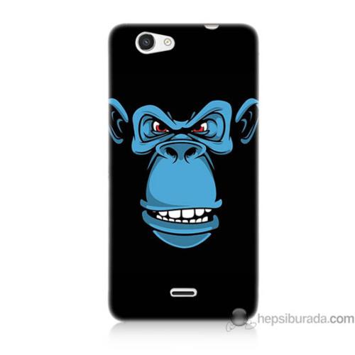 Bordo Casper Via V8c Kapak Kılıf Mavi Goril Baskılı Silikon
