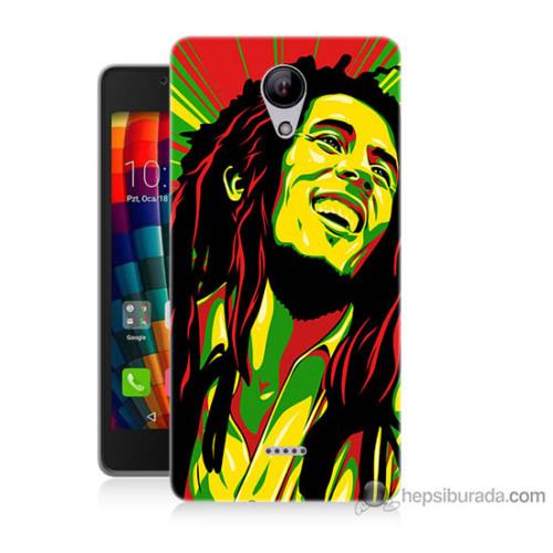 Bordo Casper Via E1 Kapak Kılıf Bob Marley Baskılı Silikon