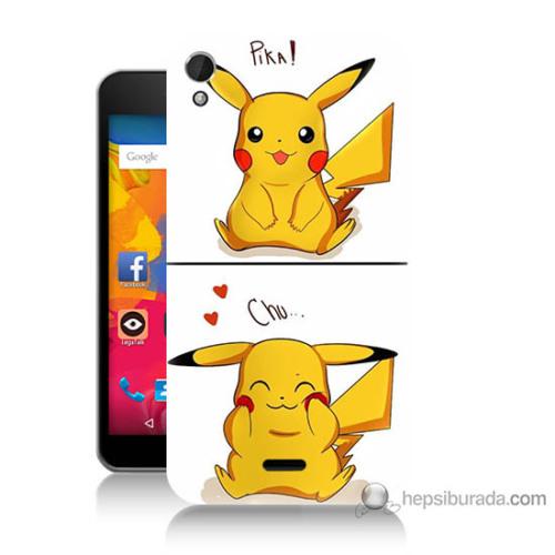Bordo Casper Via V3 Kapak Kılıf Pokemon Görsel Baskılı Silikon