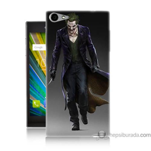 Bordo Casper Via V9 Kapak Kılıf Joker Klasik Baskılı Silikon
