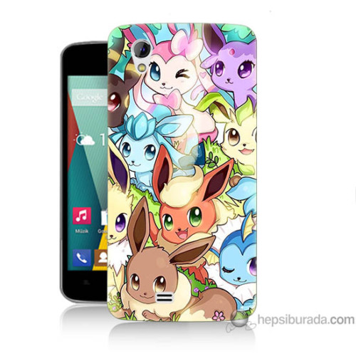 Bordo General Mobile Discovery 2 Mini Kapak Kılıf Pokemon Baskılı Silikon