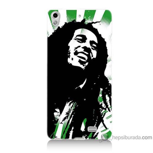 Bordo General Mobile Discovery Air Kapak Kılıf Bob Marley Soft Baskılı Silikon