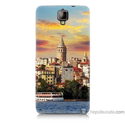 Bordo General Mobile Discovery 2 Kapak Kılıf İstanbul Galata Baskılı Silikon