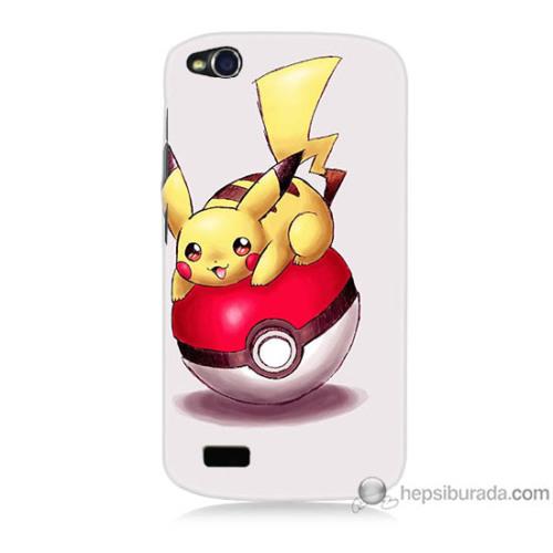 Bordo General Mobile Discovery Kapak Kılıf Pokemon Topu Baskılı Silikon
