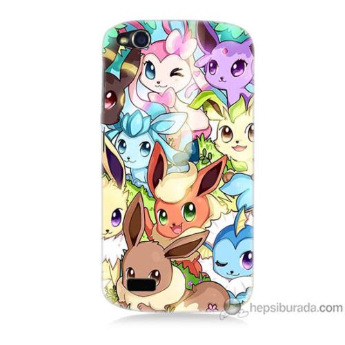 Bordo General Mobile Discovery Kapak Kılıf Pokemon Baskılı Silikon