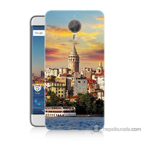 Bordo General Mobile Gm5 Plus Kapak Kılıf İstanbul Galata Baskılı Silikon