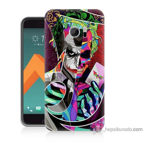 Bordo Htc 10 Kapak Kılıf Renkli Joker Baskılı Silikon