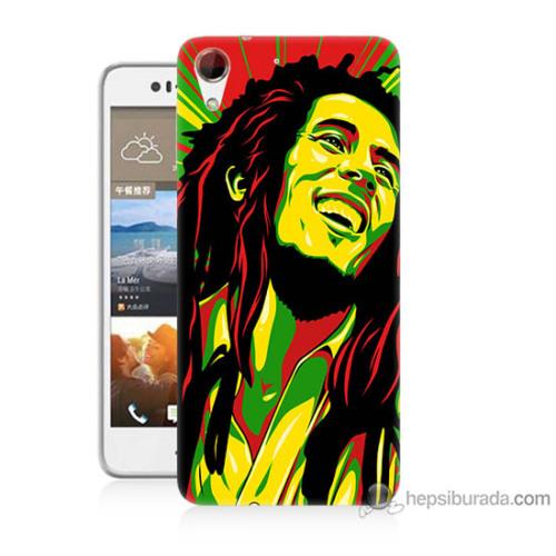 Bordo Htc Desire 728 Kapak Kılıf Bob Marley Baskılı Silikon