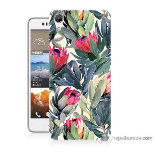 Bordo Htc Desire 728 Kapak Kılıf Tablo Resim Baskılı Silikon