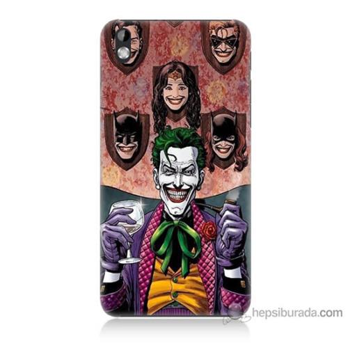Bordo Htc Desire 816 Kapak Kılıf Joker Keyfi Baskılı Silikon