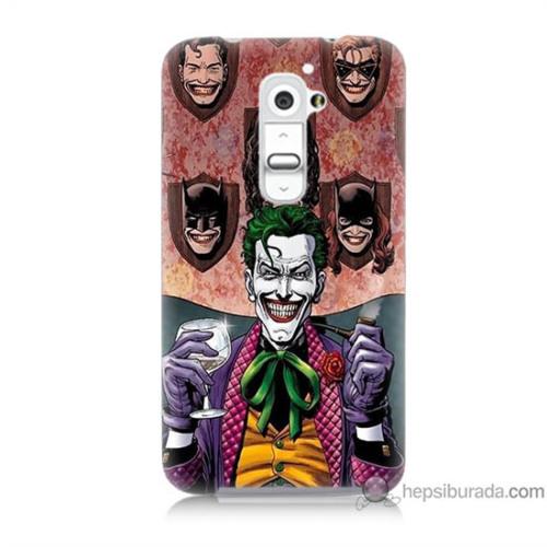 Bordo Lg G2 Kapak Kılıf Joker Keyfi Baskılı Silikon