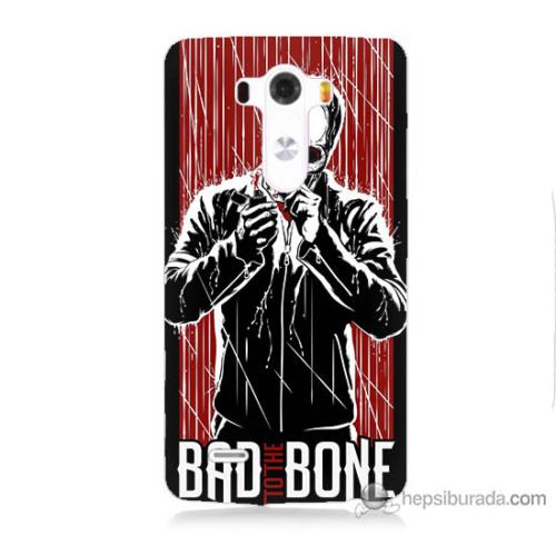 Bordo Lg G3 Kapak Kılıf Bad Bone Baskılı Silikon