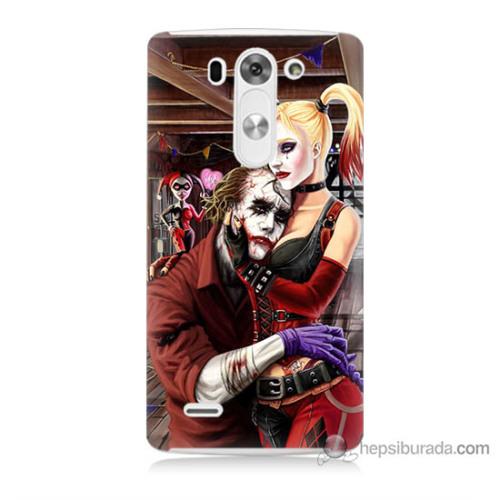 Bordo Lg G3 Mini Kapak Kılıf Joker Ask Baskılı Silikon