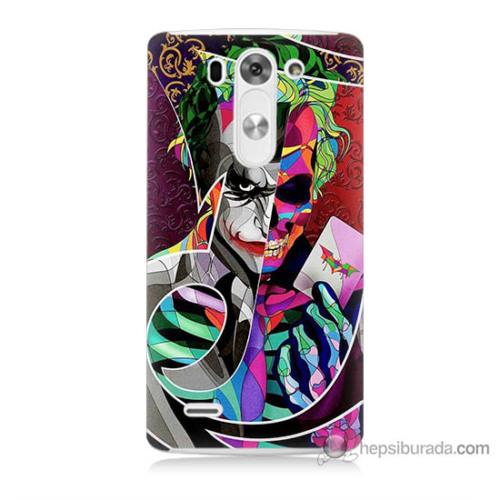 Bordo Lg G3 Mini Kapak Kılıf Renkli Joker Baskılı Silikon