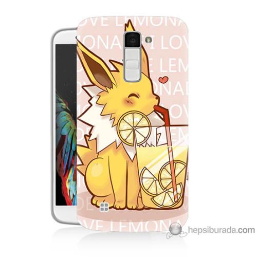 Bordo Lg K7 Kapak Kılıf Sevimli Pokemon Baskılı Silikon