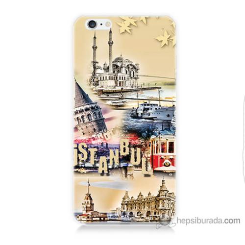 Bordo iPhone 6s Plus Kapak Kılıf İstanbul Efekt Baskılı Silikon