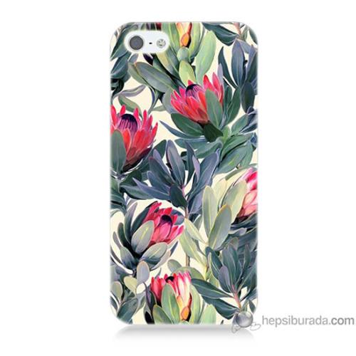 Bordo iPhone 5s Kapak Kılıf Tablo Resim Baskılı Silikon