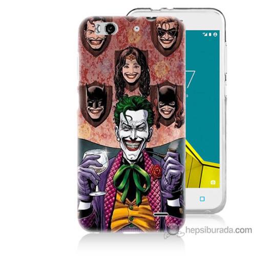 Bordo Vodafone Smart 6 Kapak Kılıf Joker Keyfi Baskılı Silikon