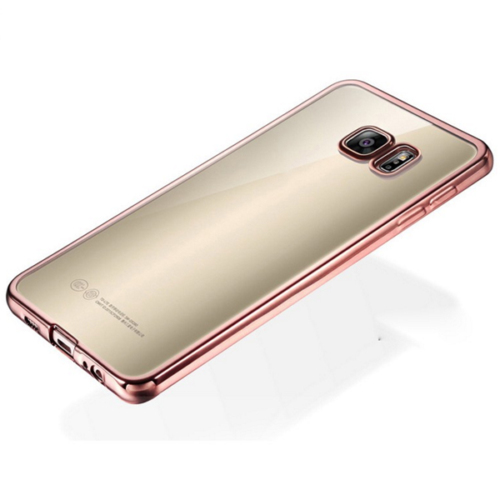 Samsung S7 Edge Gri Renkli Yumuşak Şeffaf Kılıf cin32gr