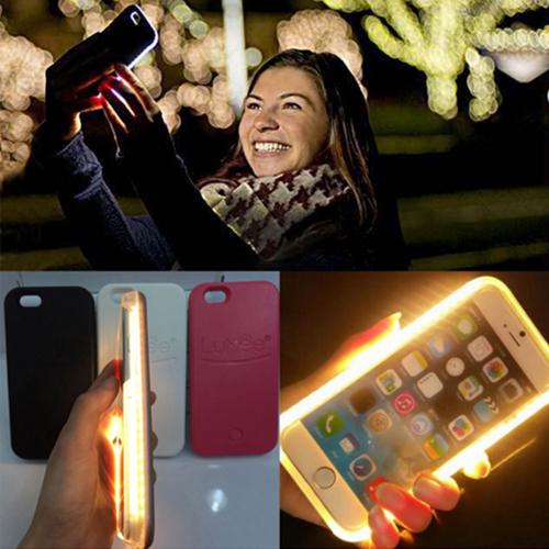 Lumee Iphone 6/S için Led Işıklı Gold Kılıf cin28gld