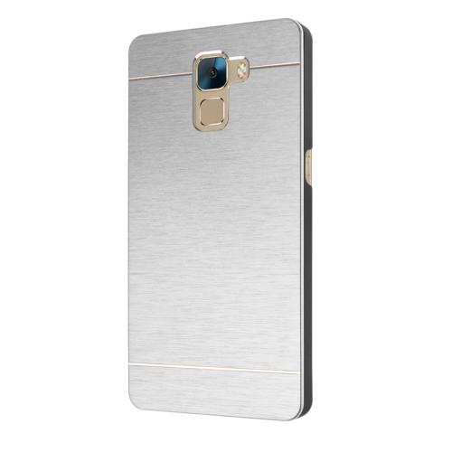 Microsonic Türk Telekom Huawei Honor 7 Kılıf Hybrid Metal Gümüş