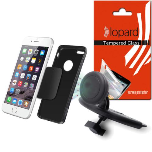 Lopard Asus Zenfone 2 Laser ZE550KL Kılıf - Kapak İçi Mıknatıslı CD Slot Araç Tutucu Magnet Telefon Tutucu + Cam Film