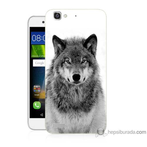 Teknomeg Huawei Gr3 Kapak Kılıf Kurt Baskılı Silikon