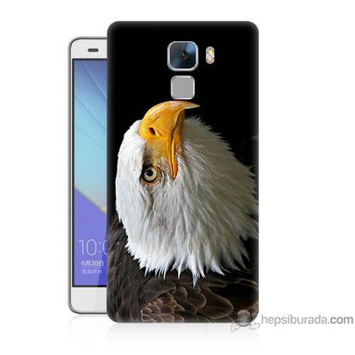 Teknomeg Huawei Honor 7 Kapak Kılıf Eagle Baskılı Silikon
