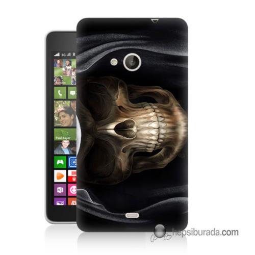 Teknomeg Nokia Lumia 535 Kapak Kılıf Kurukafa Baskılı Silikon