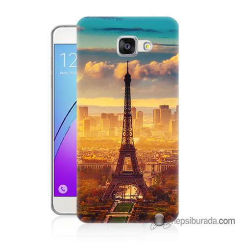 Teknomeg Samsung Galaxy A3 2016 Kapak Kılıf Eyfel Ve Paris Baskılı Silikon