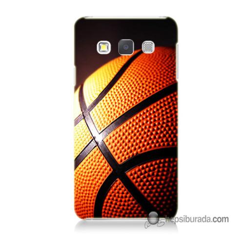 Teknomeg Samsung Galaxy A3 Kapak Kılıf Basketbol Baskılı Silikon