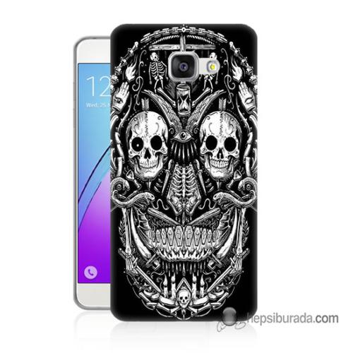 Teknomeg Samsung Galaxy A5 2016 Kapak Kılıf İskelet Baskılı Silikon