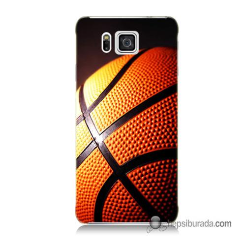 Teknomeg Samsung Galaxy Alpha G850 Kapak Kılıf Basketbol Baskılı Silikon
